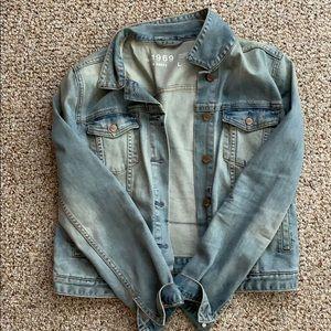 Gap distressed worn in jean jacket